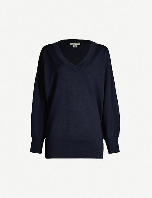 24401cc837 WHISTLES V-neck wool jumper
