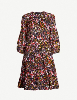 WHISTLES Floral Meadow crepe dress