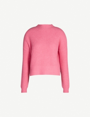 WHISTLES Oversized ribbed wool-blend jumper