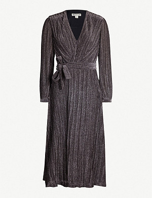 WHISTLES Maia sparkle wrap dress