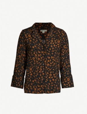 WHISTLES Cheetah-print pyjama shirt