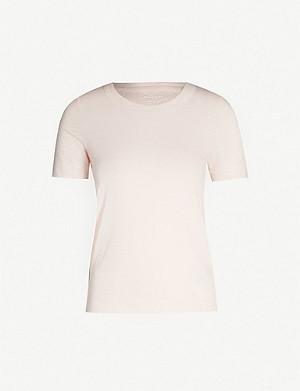 WHISTLES Double trim cotton-jersey T-shirt