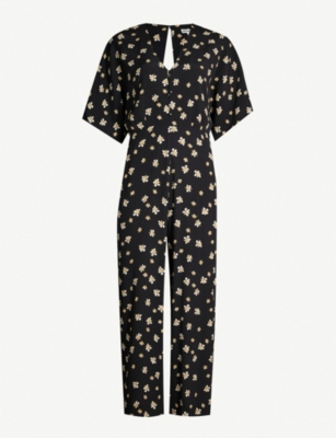WHISTLES Edelweiss floral-print crepe jumpsuit