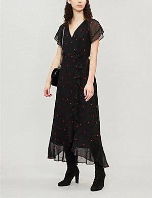 1b99d43c WHISTLES - Robyn floral-jacquard maxi dress   Selfridges.com