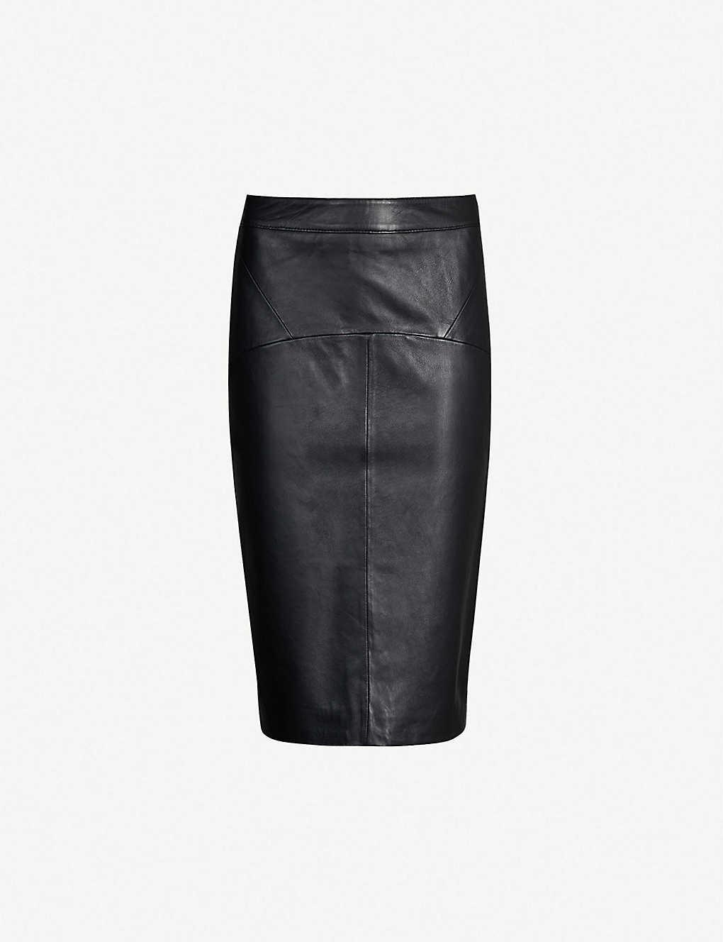 40725ef28e3408 WHISTLES - Kel leather pencil skirt | Selfridges.com