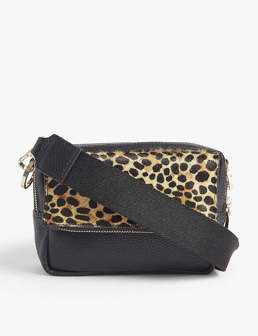 362efae4543d WHISTLES - Bibi leopard-print leather cross-body bag | Selfridges.com