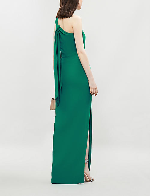 WHISTLES Bethan one shoulder crepe maxi dress