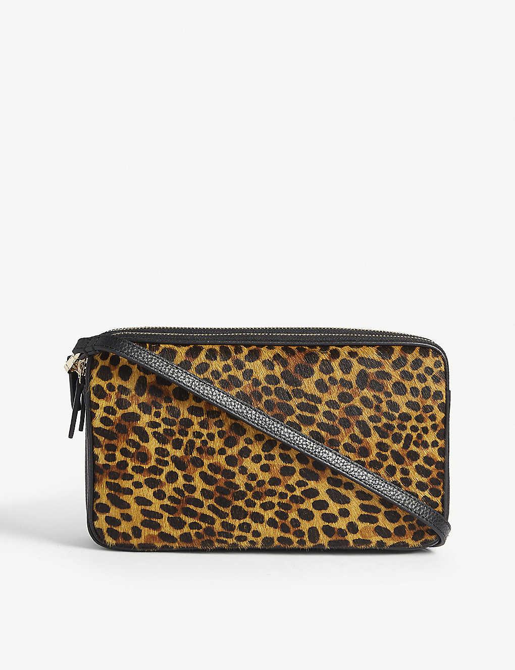 8e1e3650ad58 Cornelia leopard-print leather cross-body bag - Multicoloured ...