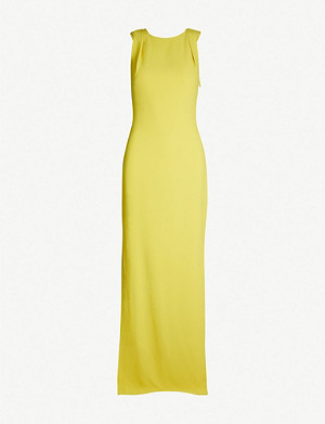 WHISTLES Tie-back crepe maxi dress