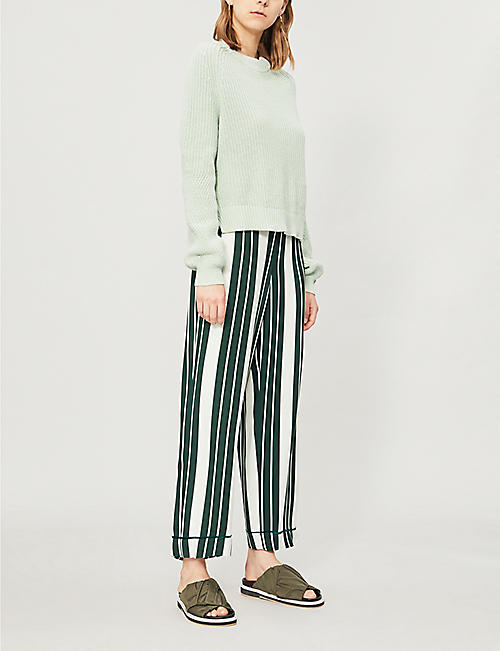 WHISTLES Round-neck cotton-knit jumper