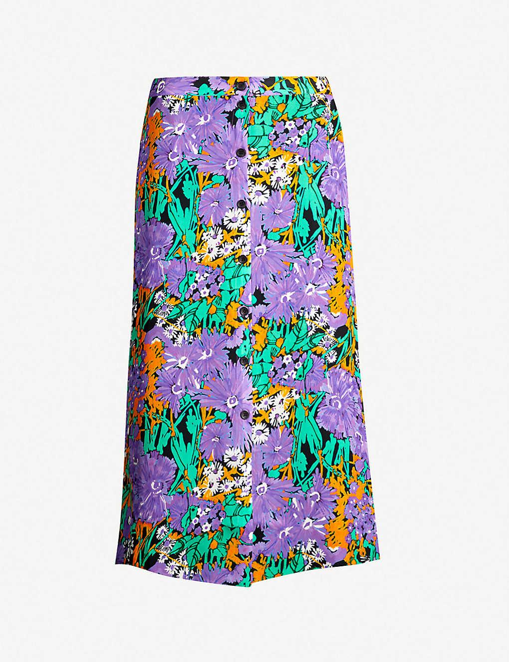 846ff0abf4e Simone floral print silk skirt - Multicoloured ...