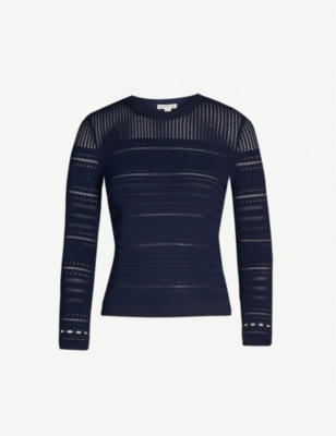 WHISTLES Embroidered woven jumper