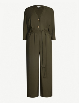 WHISTLES Lorena tie-front woven jumpsuit