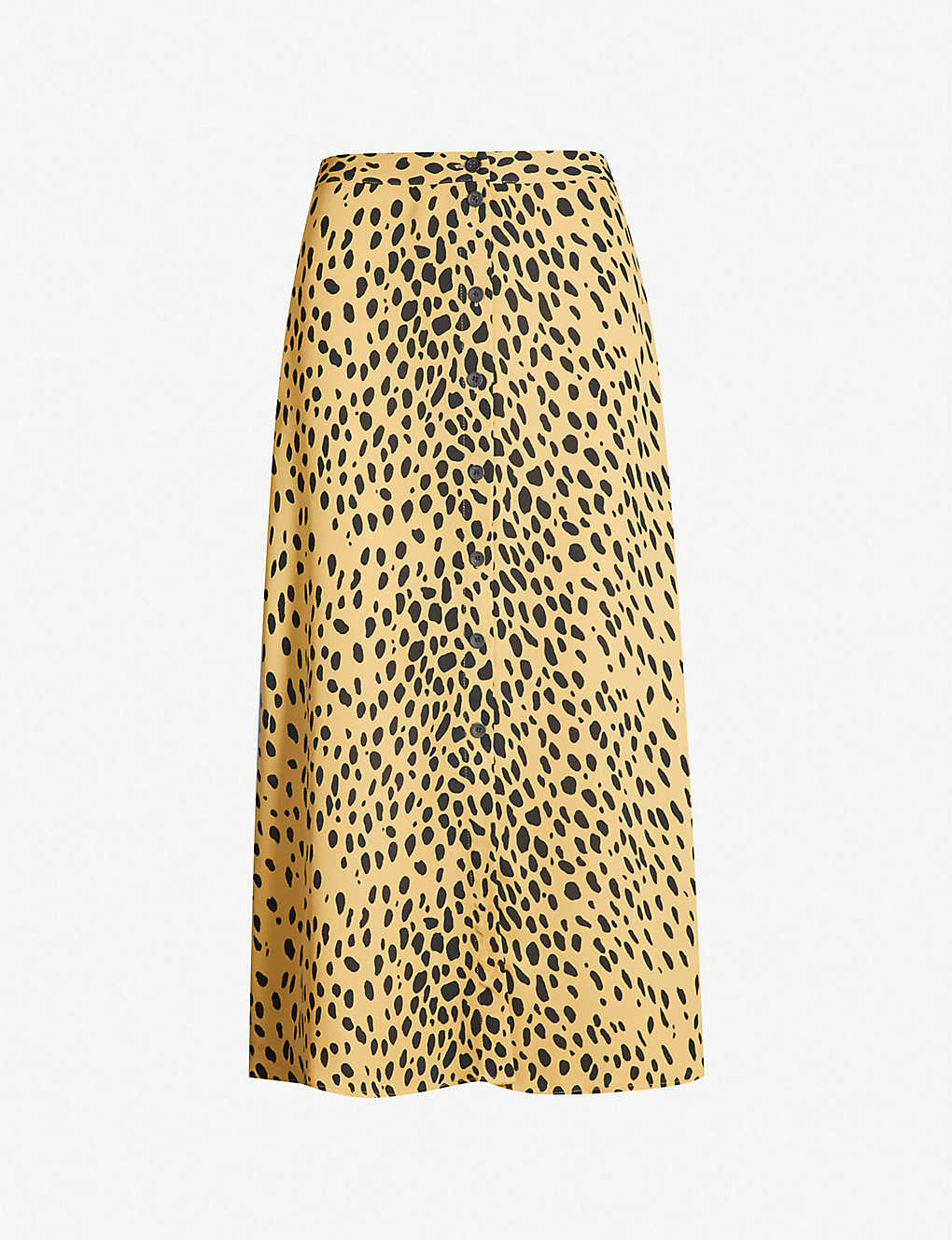 d82534ed42ad WHISTLES - Animal-print button-front crepe midi skirt | Selfridges.com