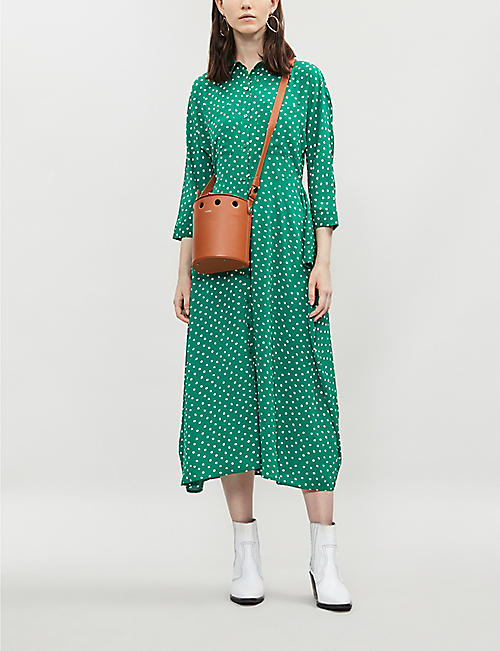 69e3ffa465 WHISTLES Selma polka dot tie-waist dress