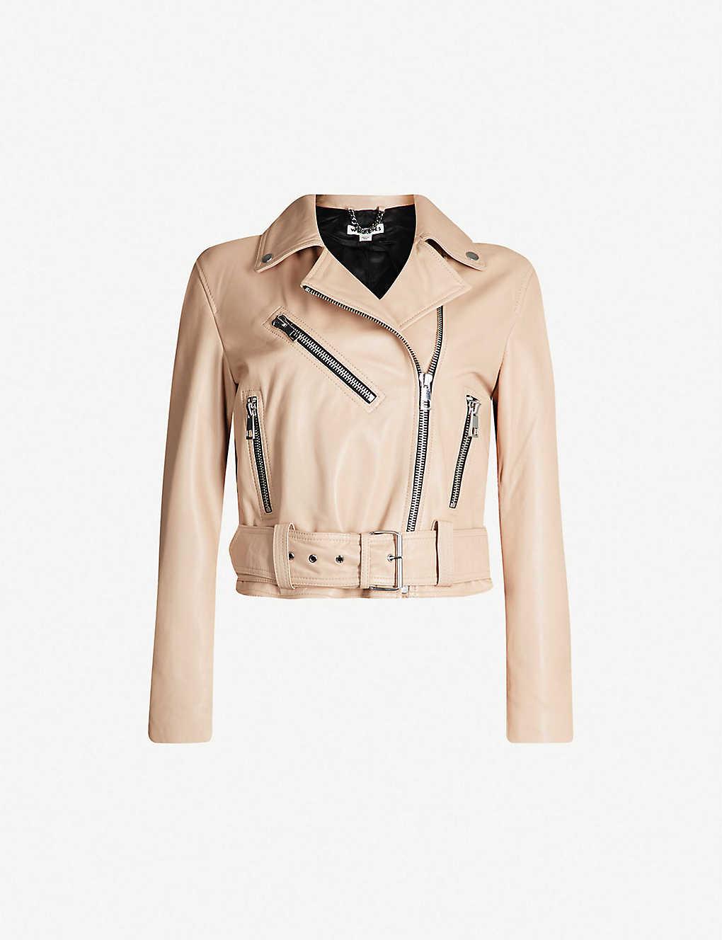6c794df2ae WHISTLES - Adriana leather jacket | Selfridges.com