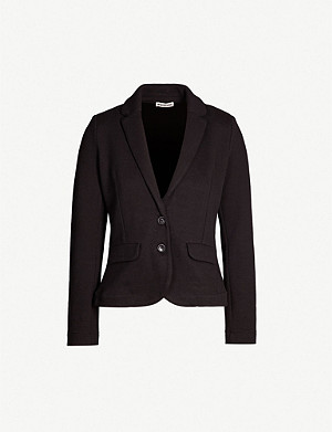 WHISTLES Slim-fit cotton-jersey jacket