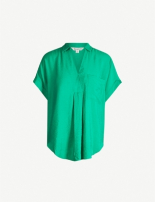 WHISTLES Lea V-neck X shirt