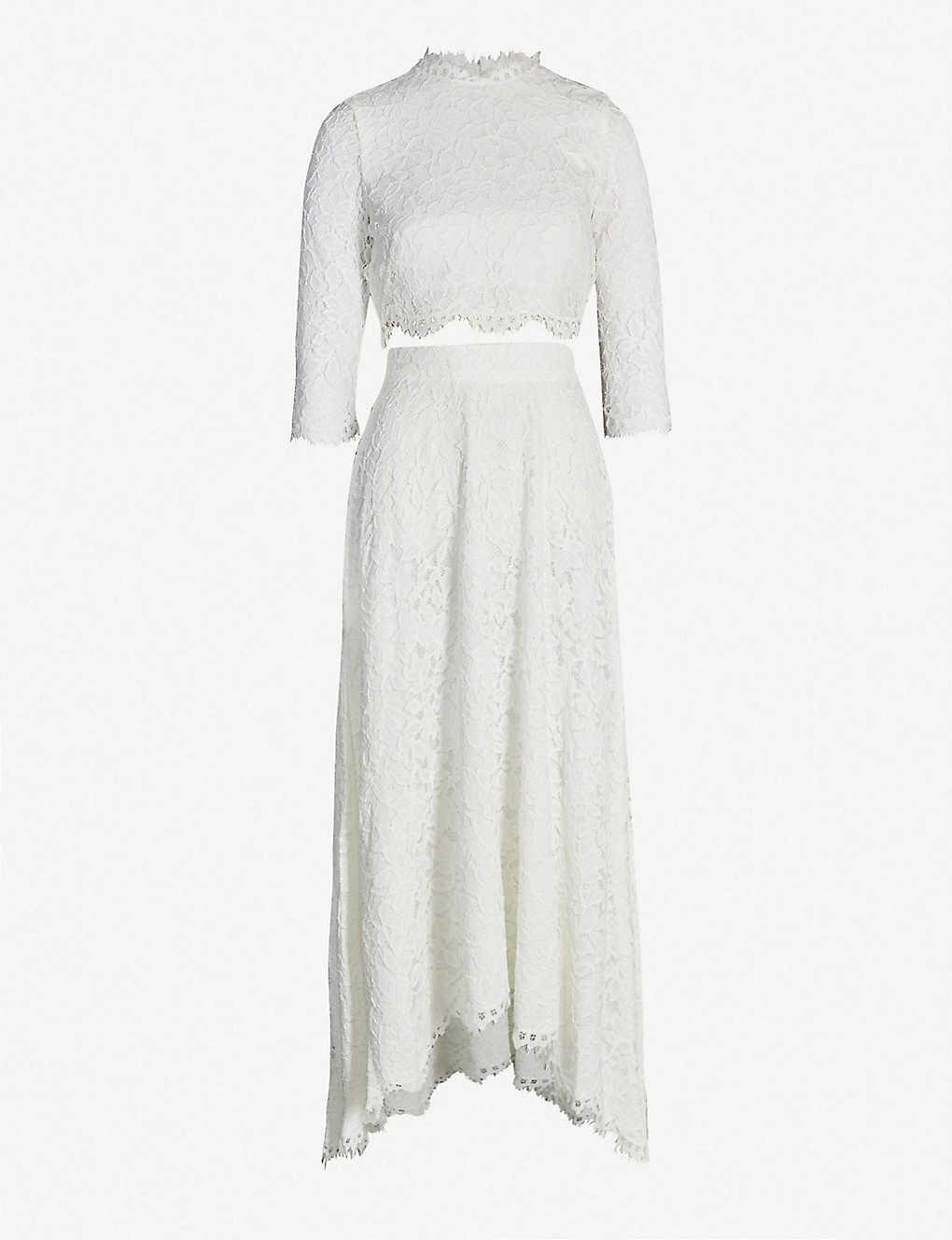 086225ffdf2c WHISTLES - Ariane lace wedding co-ord set | Selfridges.com