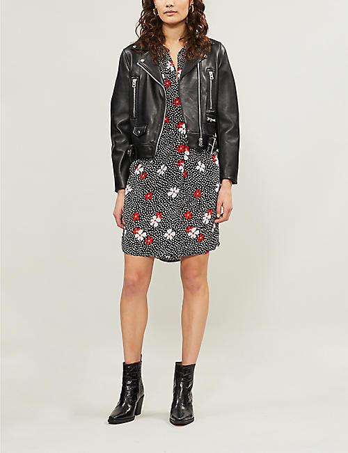 e1b378a38db WHISTLES Lola contrast-floral confetti-print crepe dress · Quick Shop