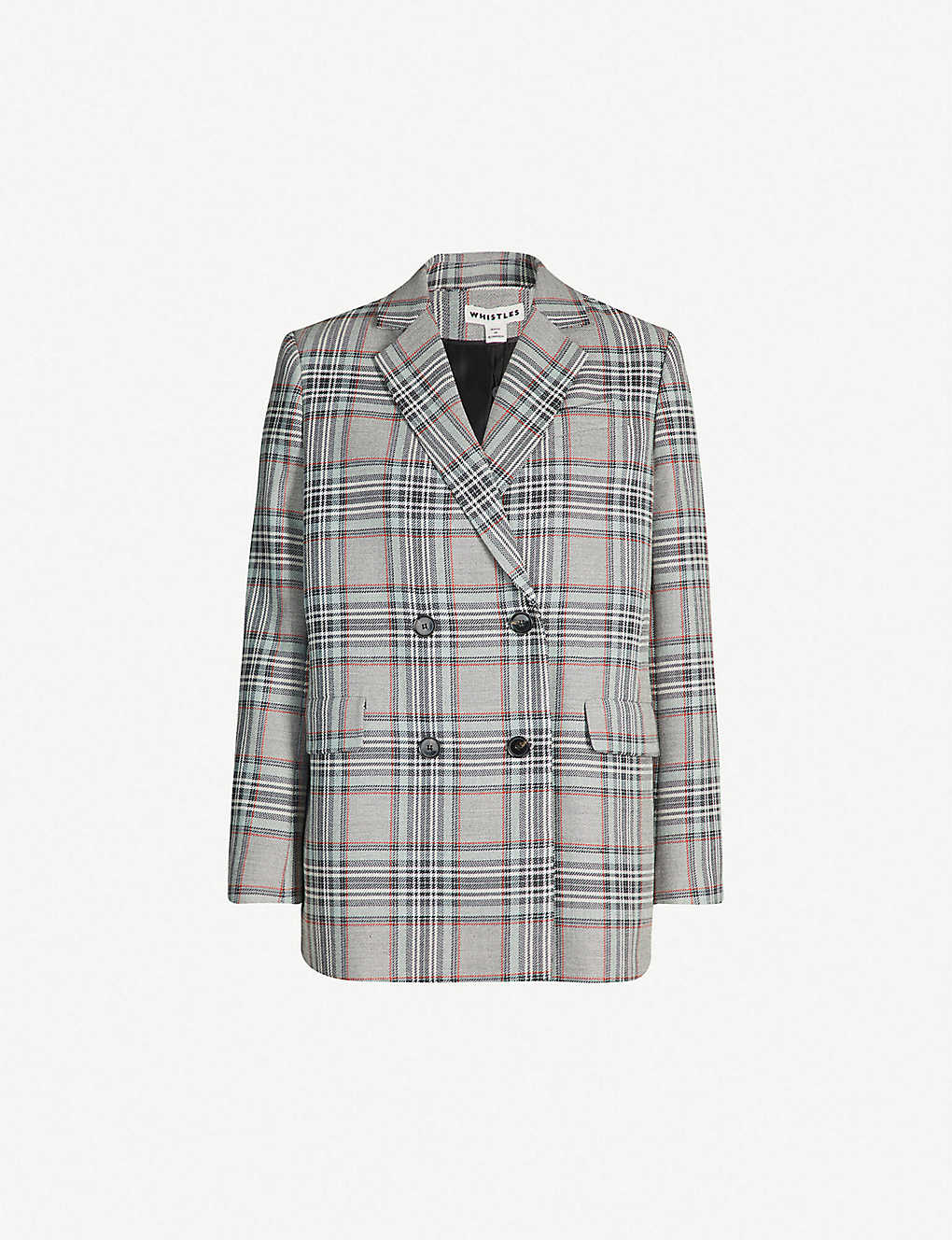 476585fd98ac WHISTLES - Checked double breasted woven blazer | Selfridges.com