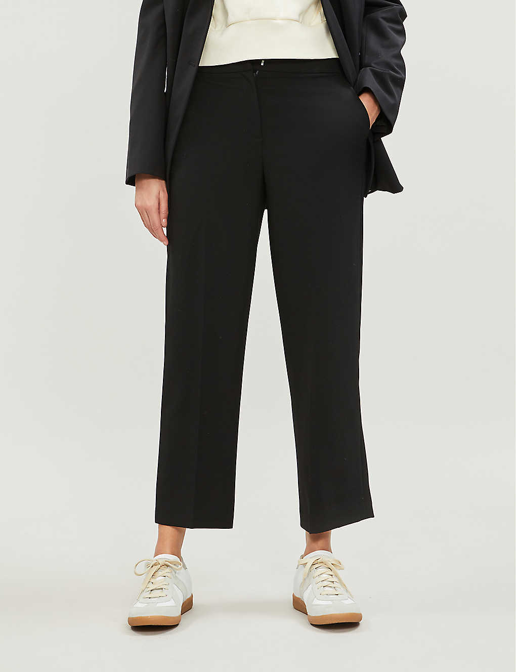 WHISTLES: Kate woven ankle-length trousers