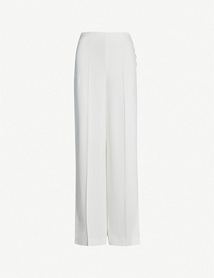WHISTLES Annie wide-leg crepe wedding trousers