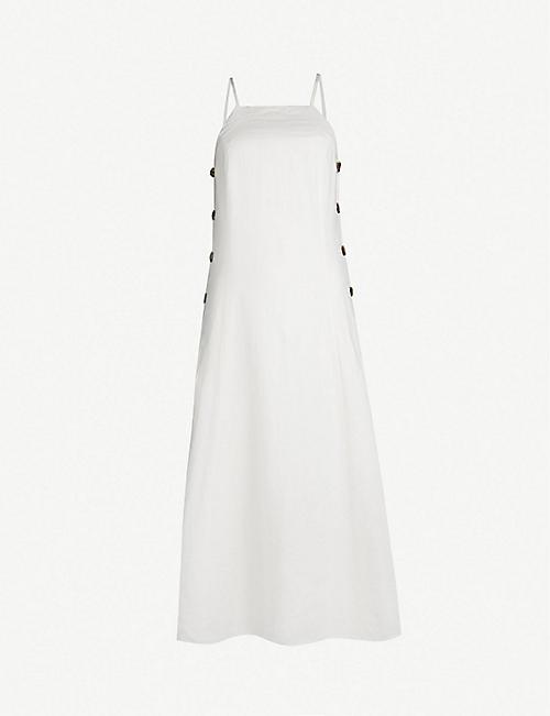 b4e0e2f485bc0 WHISTLES Nina button linen dress