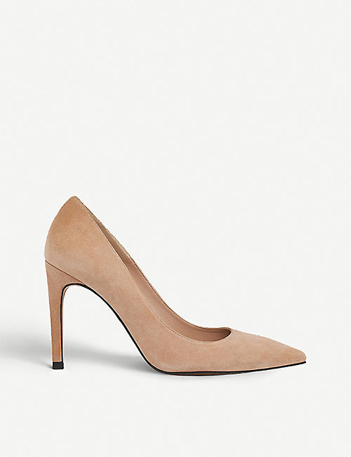 WHISTLES: Cornel pointed-toe suede courts