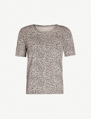WHISTLES Rosa animal-print cotton-jersey T-shirt