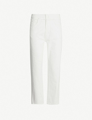 WHISTLES Hollie straight-leg high-rise jeans