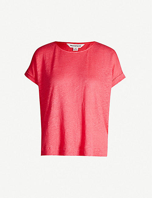df03b498cd1 WHISTLES Relaxed-fit linen T-shirt