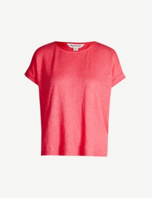 WHISTLES Relaxed-fit linen T-shirt