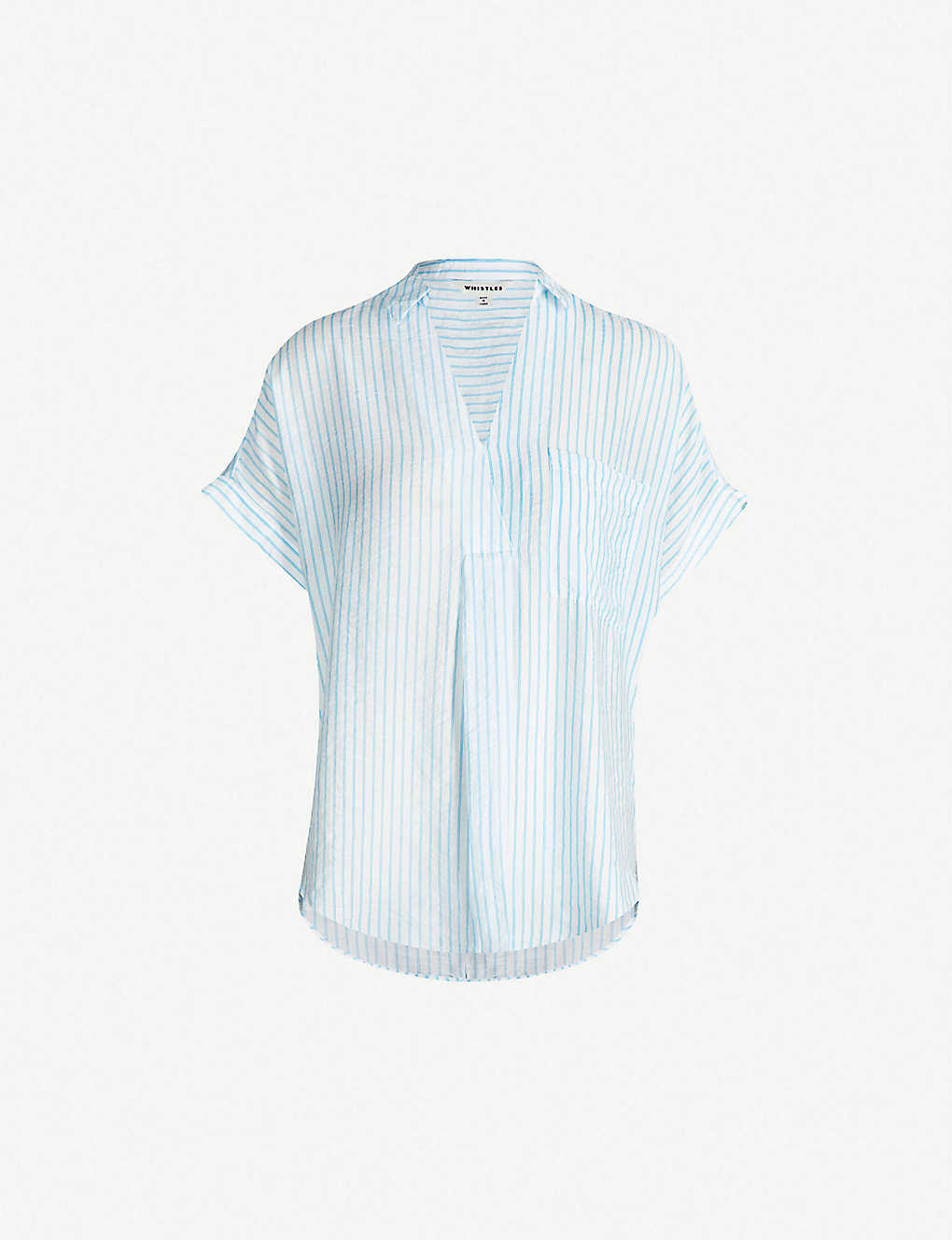 a8970e847e7690 WHISTLES - Lea stripe crepe shirt | Selfridges.com