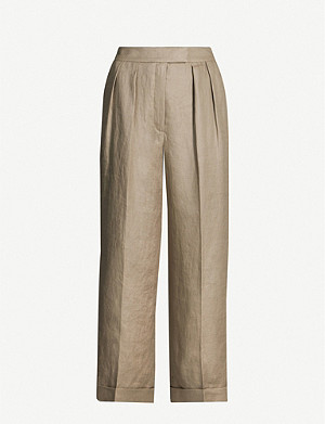 WHISTLES Lydia linen trousers