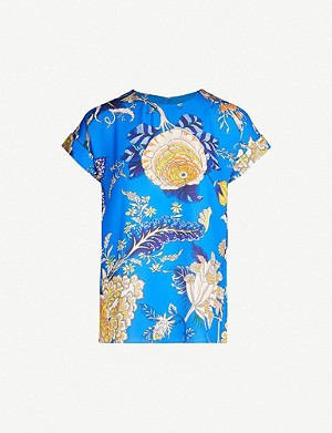 WHISTLES Exotic floral shell top