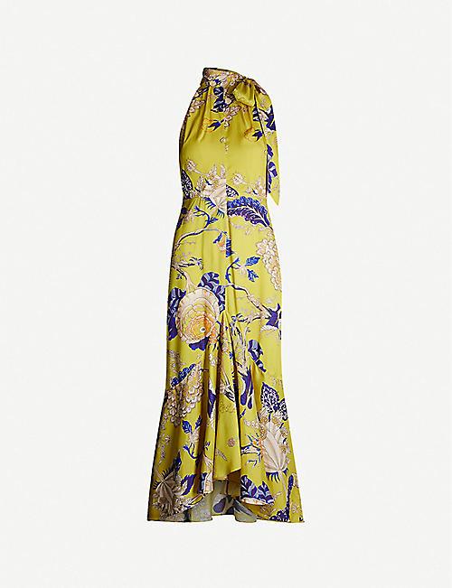 01dadb12fcd10 WHISTLES Peria floral-print satin maxi dress