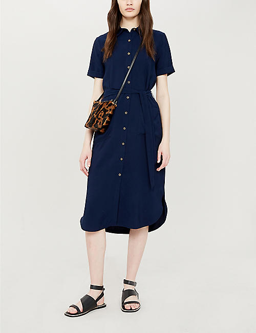 WHISTLES Montana longline shirt dress