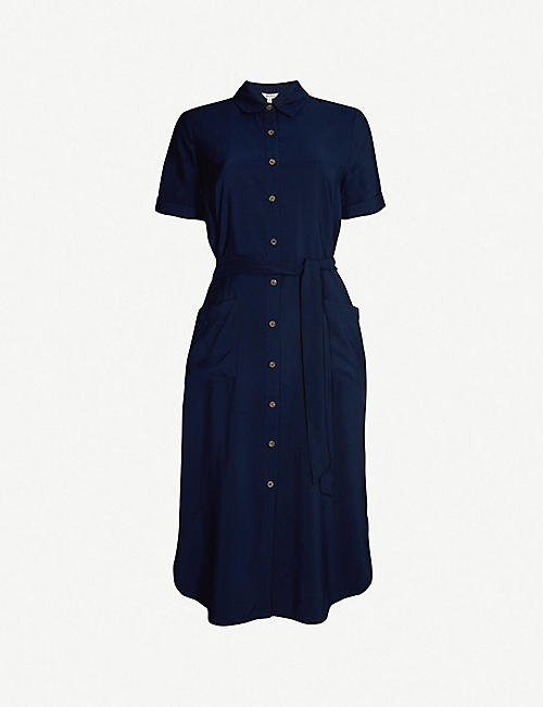 c478e27e5e8 WHISTLES Montana longline shirt dress