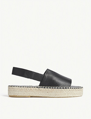 WHISTLES Nile leather espadrille sandals