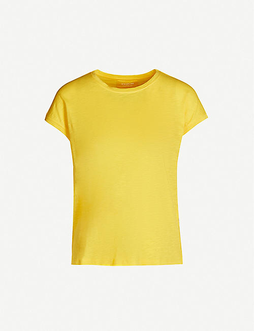 WHISTLES Round-neck cotton-jersey T-shirt