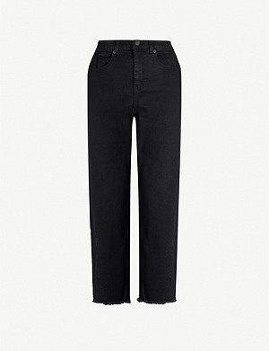 WHISTLES Raw-hem tapered mid-rise jeans