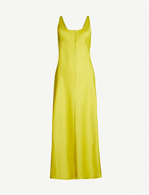 WHISTLES Pippa strappy satin slip dress
