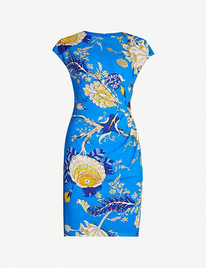 WHISTLES Exotic floral stretch-silk mini dress