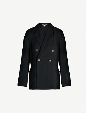 WHISTLES Double-breasted crepe blazer