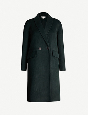 WHISTLES Double-breasted wool-blend coat