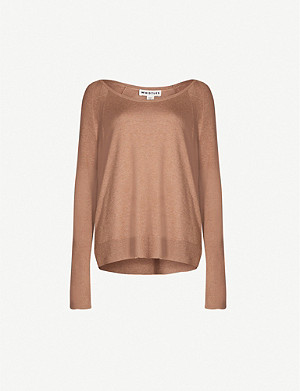 WHISTLES Scoop-neck stretch-knit jumper