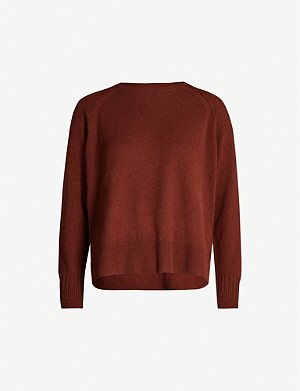 WHISTLES Round-neck cashmere jumper