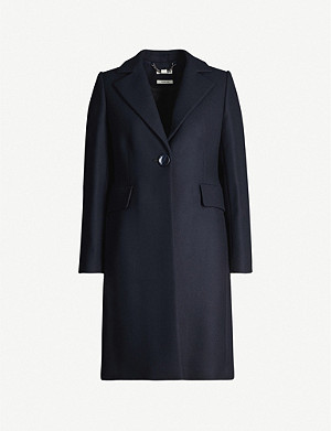 WHISTLES Clara notch-lapel wool-blend coat