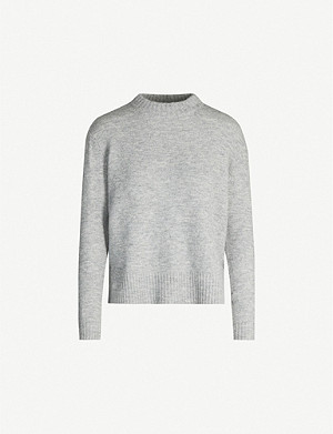 WHISTLES Ribbed high neck knitted jumper